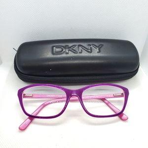DKNY Purple Prescription Glasses Frames & Case